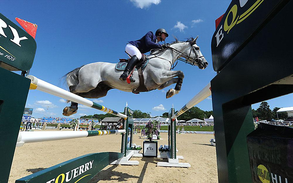 Anthony Condon, winner of Equerry Grand Prix, Bolesworth International Horse Show